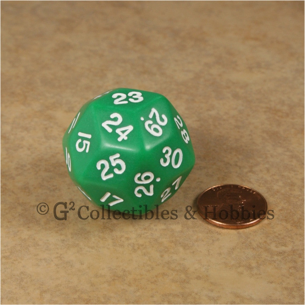 D30 Opaque Green with White Numbers