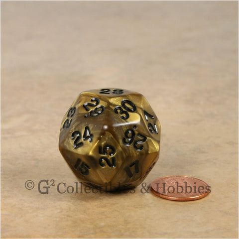 D30 Olympic Pearlized Gold with Black Numbers