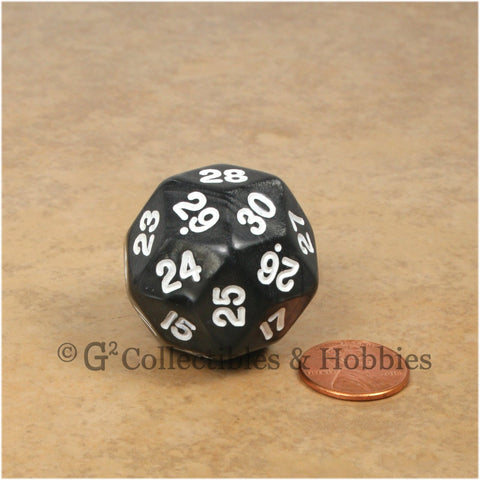 D30 Pearlized Black with White Numbers