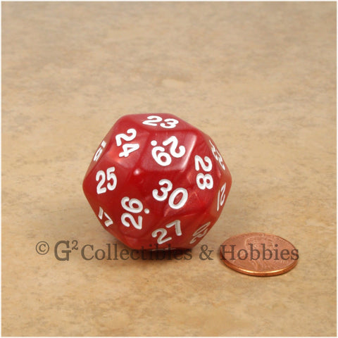 D30 Pearlized Red with White Numbers