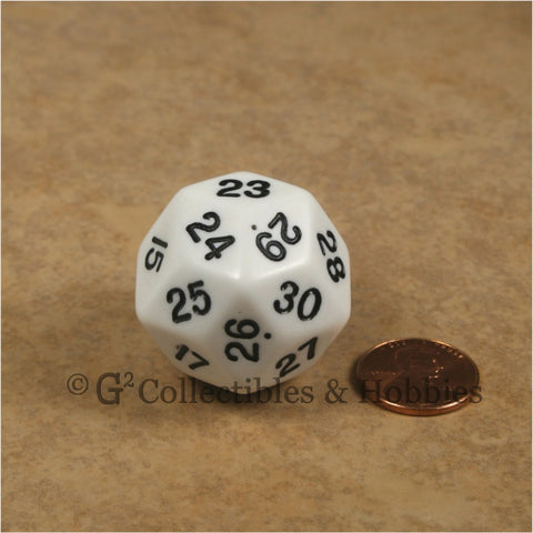 D30 Opaque White with Black Numbers