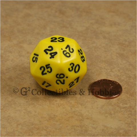 D30 Opaque Yellow with Black Numbers