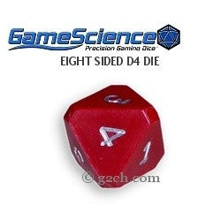D4 (8 Sided) Opaque Red Gamescience Die