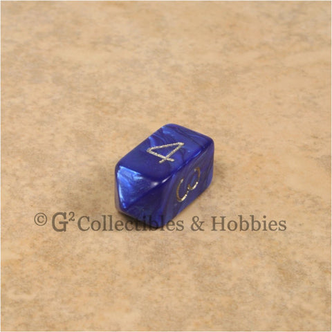 D4 Crystal Pearl Blue Die with Gold Numbers