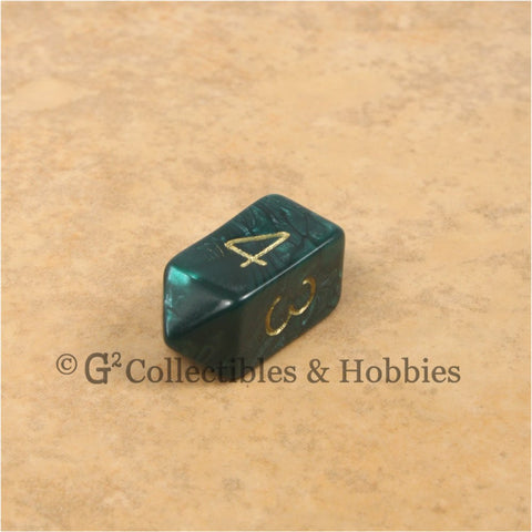 D4 Crystal Pearl Green Die with Gold Numbers
