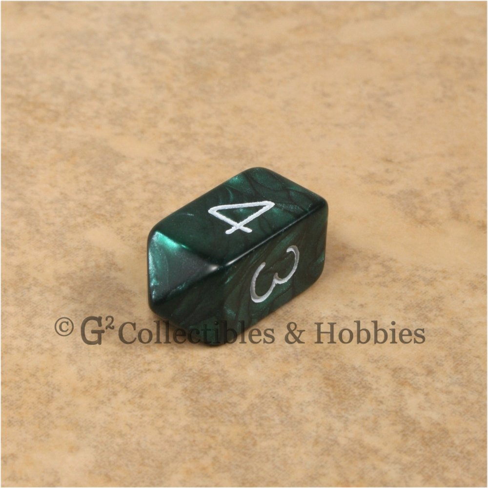 D4 Crystal Pearl Green Die with White Numbers
