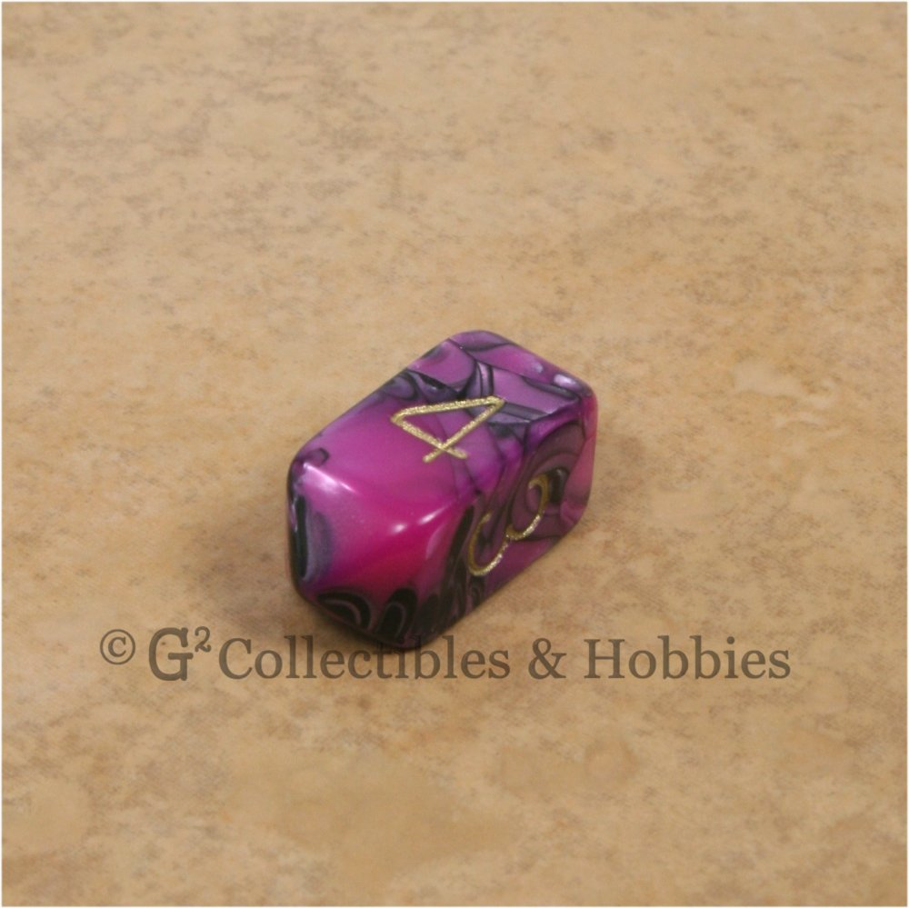D4 Crystal Toxic Pink Black with Gold Numbers