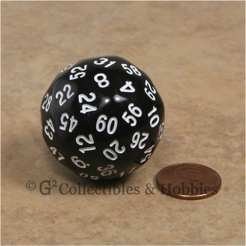 D60 Black Sixty Sided Die