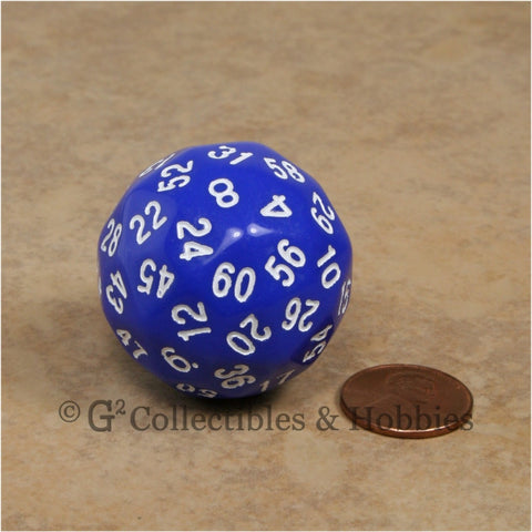 D60 Blue Sixty Sided Die