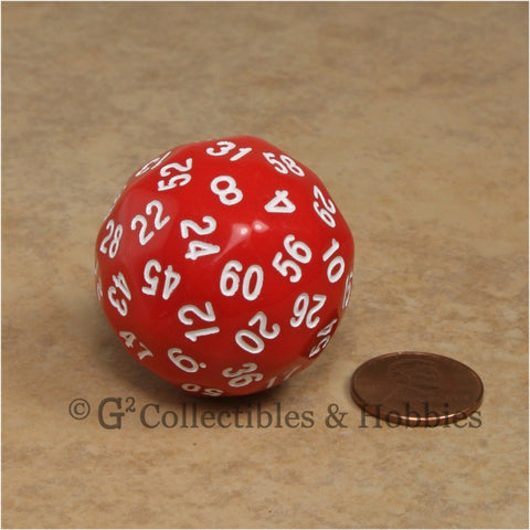 D60 Red Sixty Sided Die