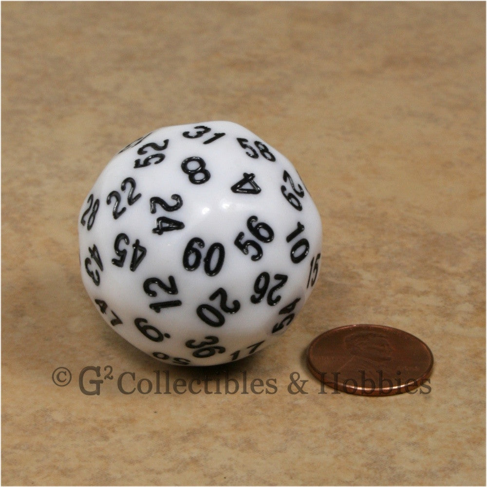 D60 White Sixty Sided Die