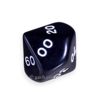 D10 DECADE Opaque Black with White Numbers