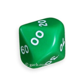 D10 DECADE Opaque Green with White Numbers