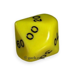 D10 DECADE Opaque Yellow with Black Numbers
