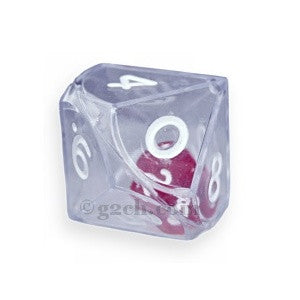 D10 25mm Double Dice - Clear
