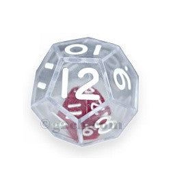D12 25mm Double Dice - Clear