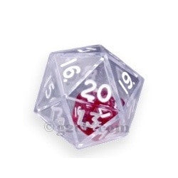 D20 25mm Double Dice - Clear