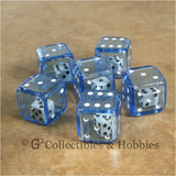 D6 19mm Double Dice 6pc Dice Set - Blue