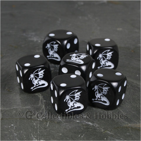 Dragon Dice 6pc Set - Black