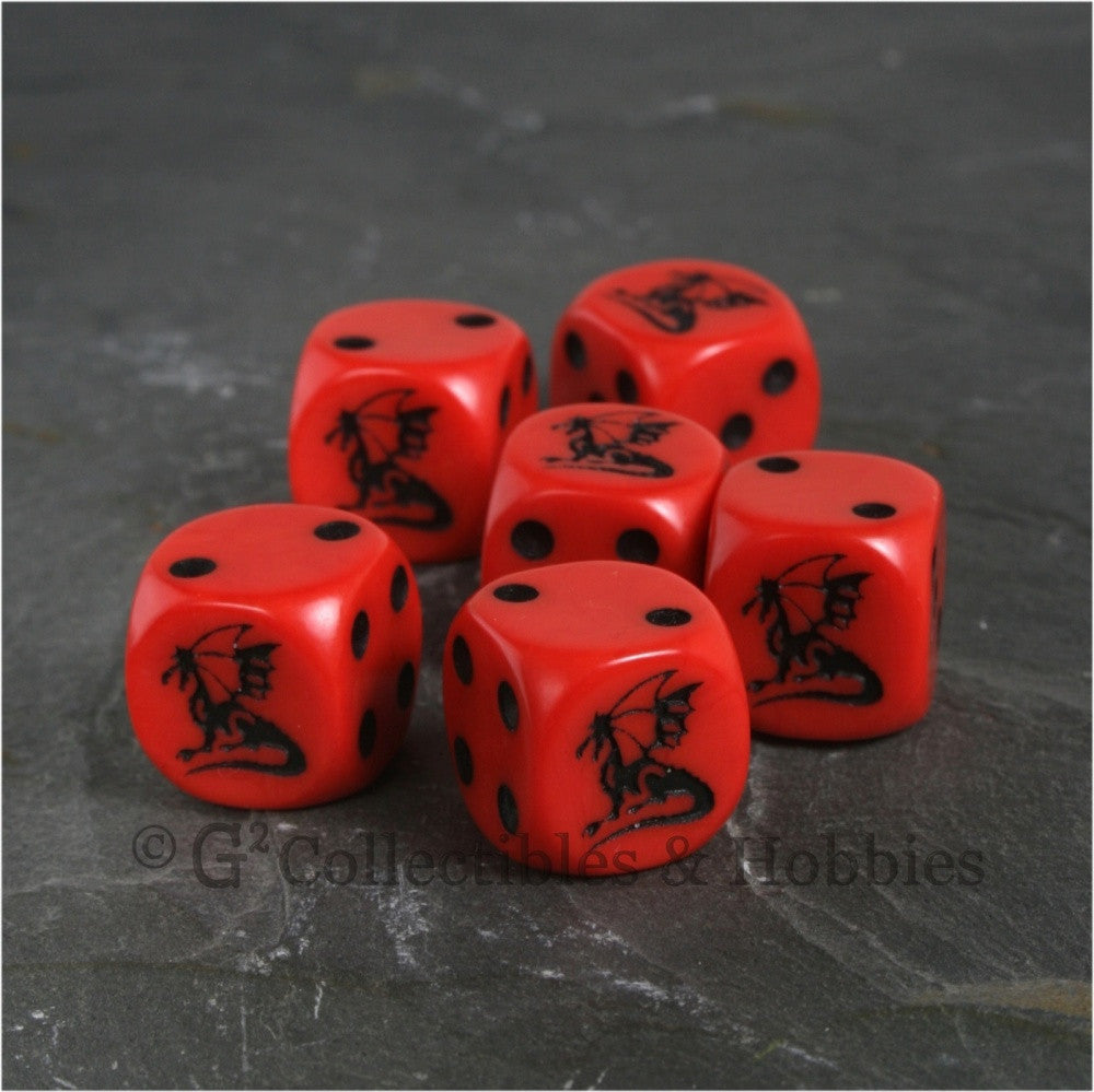 Dragon Dice 6pc Set - Red