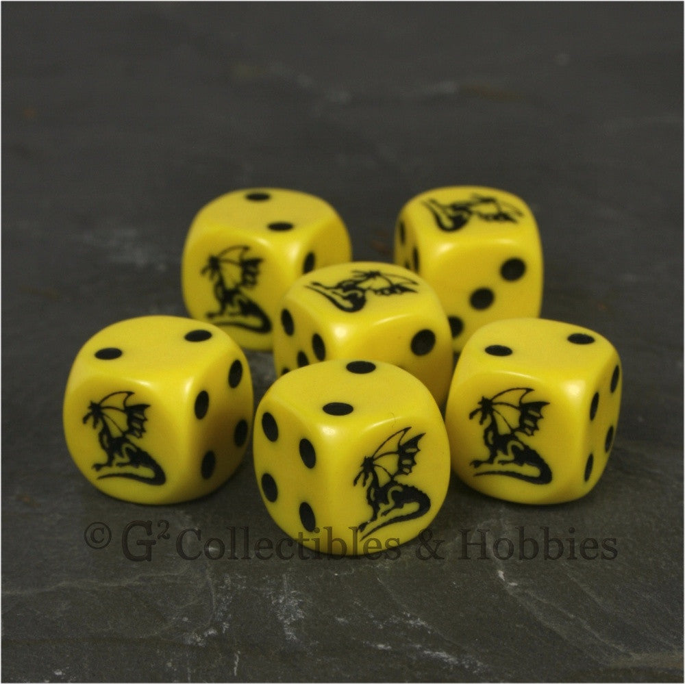Dragon Dice 6pc Set - Yellow