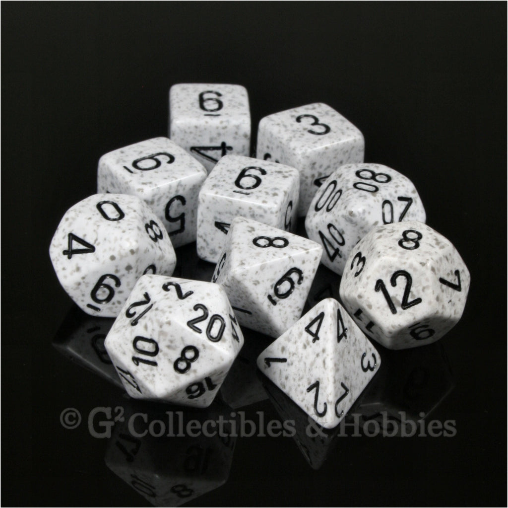 RPG Dice Set Elemental Arctic 10pc