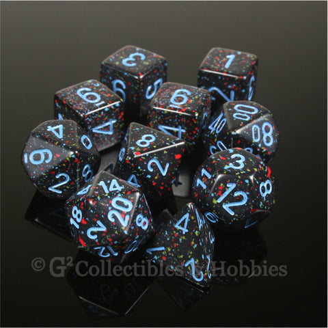 RPG Dice Set Elemental Blue Stars 10pc