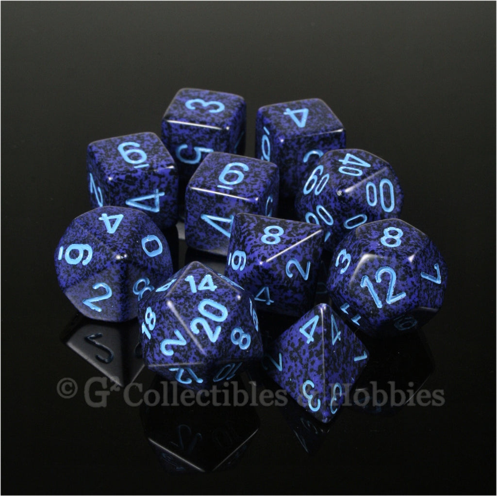 RPG Dice Set Speckled Cobalt 10pc