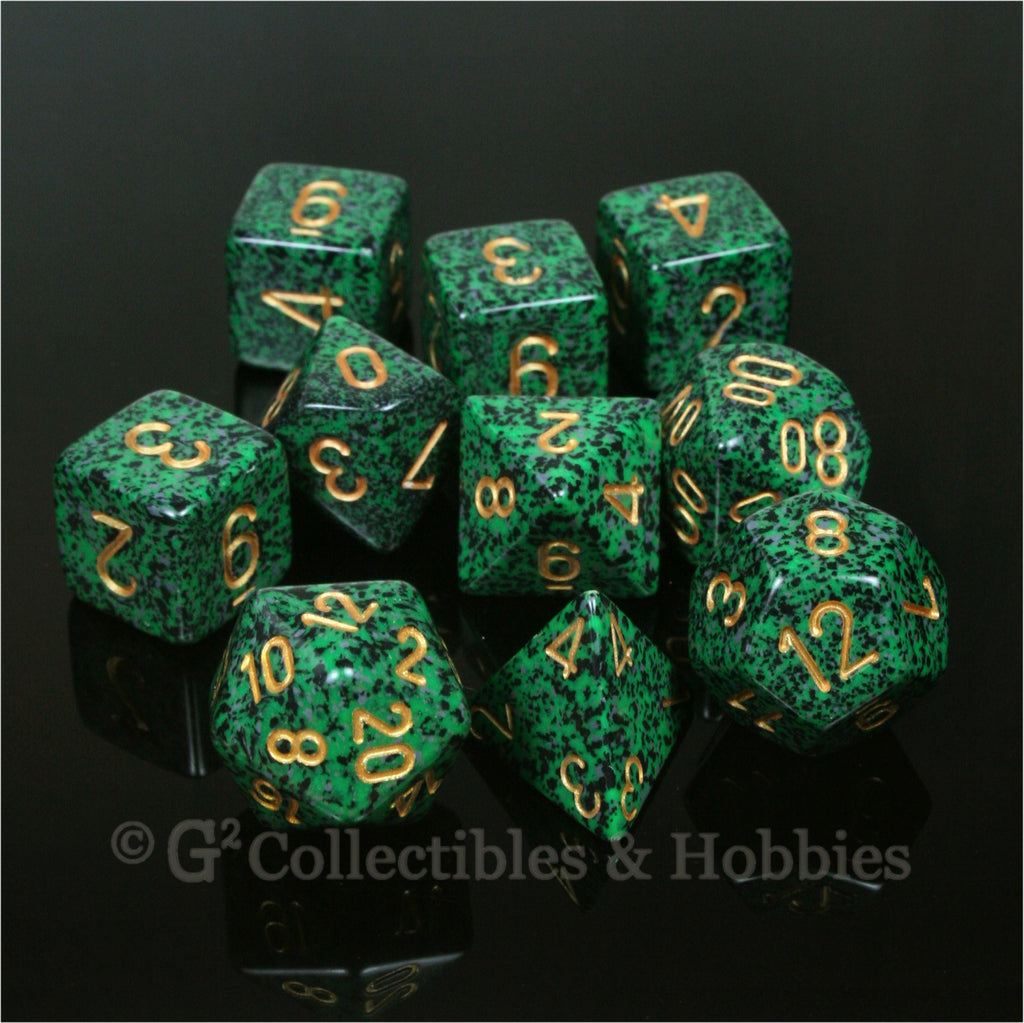 RPG Dice Set Speckled Golden Recon 10pc