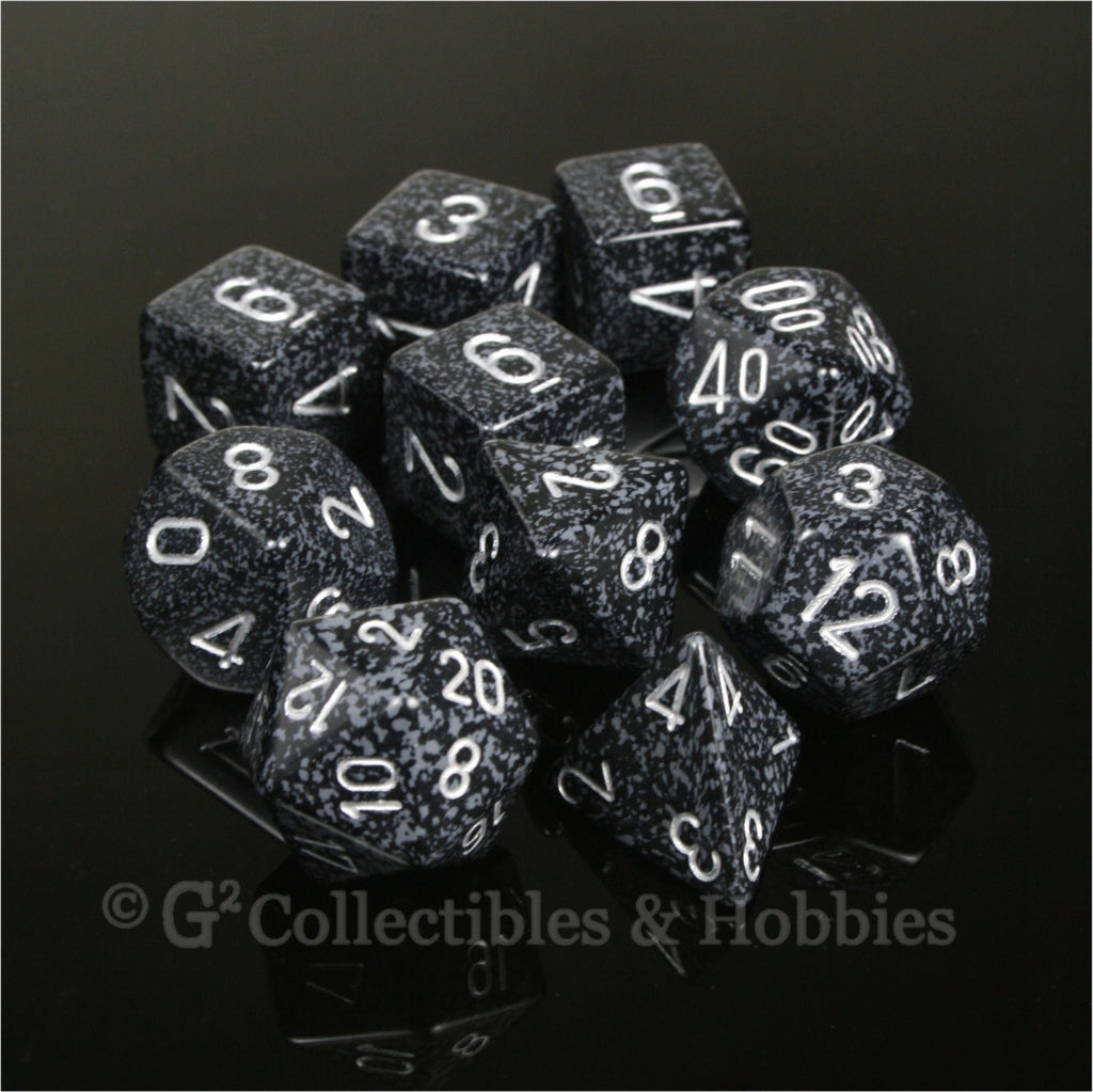 RPG Dice Set Speckled Ninja 10pc