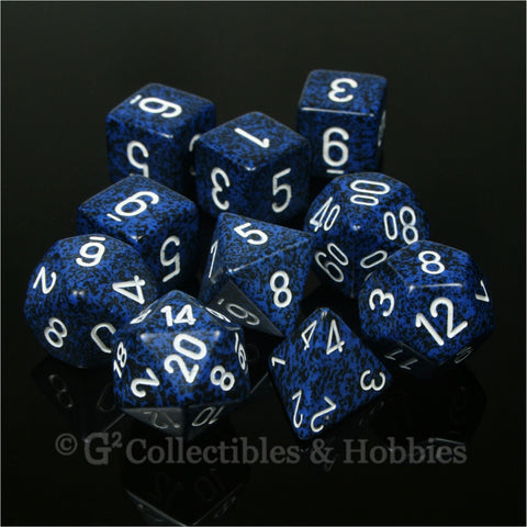 RPG Dice Set Speckled Stealth 10pc