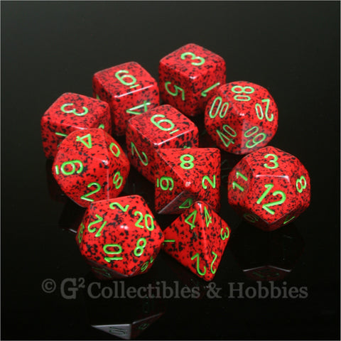 RPG Dice Set Speckled Strawberry 10pc