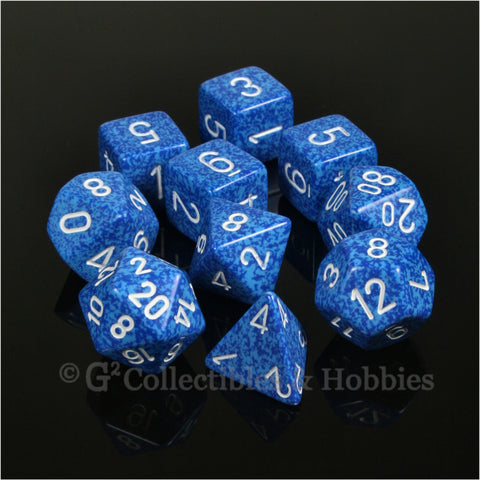 RPG Dice Set Elemental Water 10pc