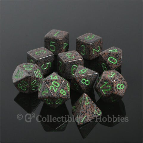 RPG Dice Set Elemental Earth 10pc
