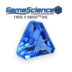 D5 Transparent Sapphire Blue Gamescience Gem Die