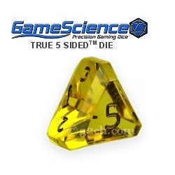 D5 Transparent Topaz Yellow Gamescience Gem Die