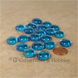 Glass Gaming Stones - 20pc Blue