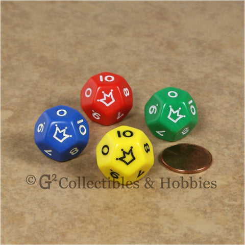 D12 Jester Dice (0 to 10) - Set of 4