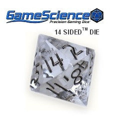 D14 Transparent Diamond Gamescience Gem Die