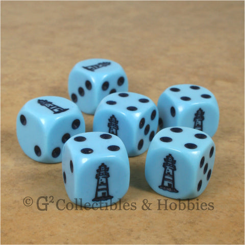 Lighthouse Dice - Set of 6