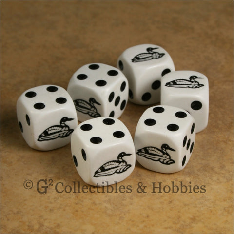 Loon 6pc Dice Set - White