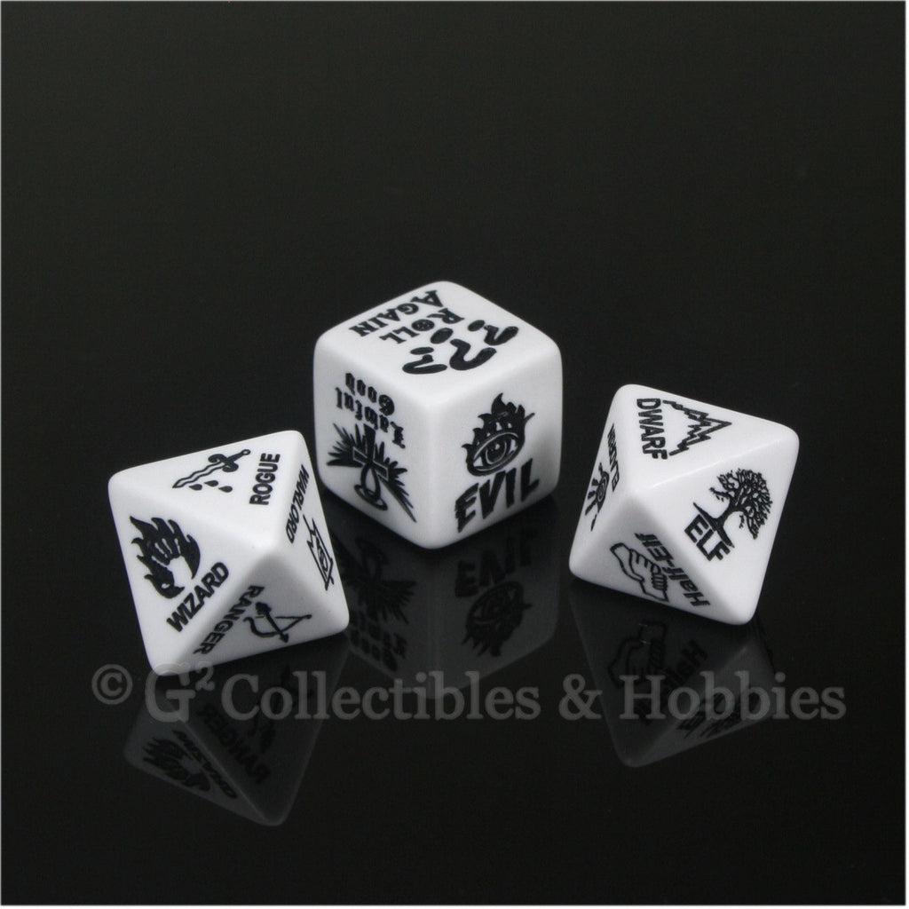NPC Alignment Race Class Dice Set 3pc