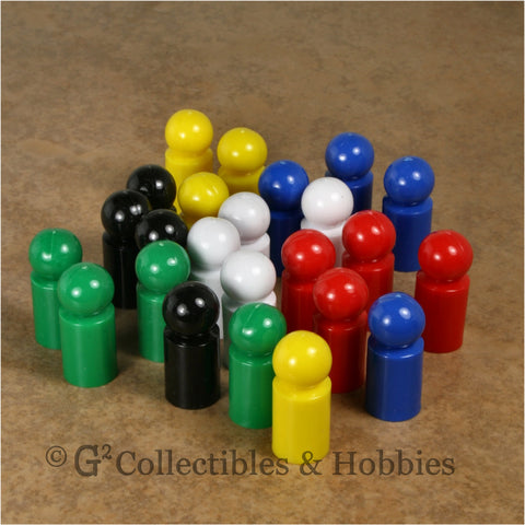 Game Pawns: Ball Set of 24 in six colors