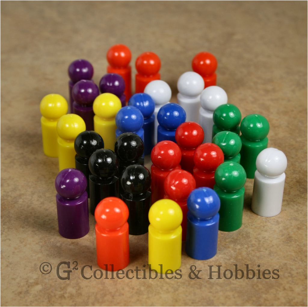 Game Pawns: Ball Set of 32 in eight colors