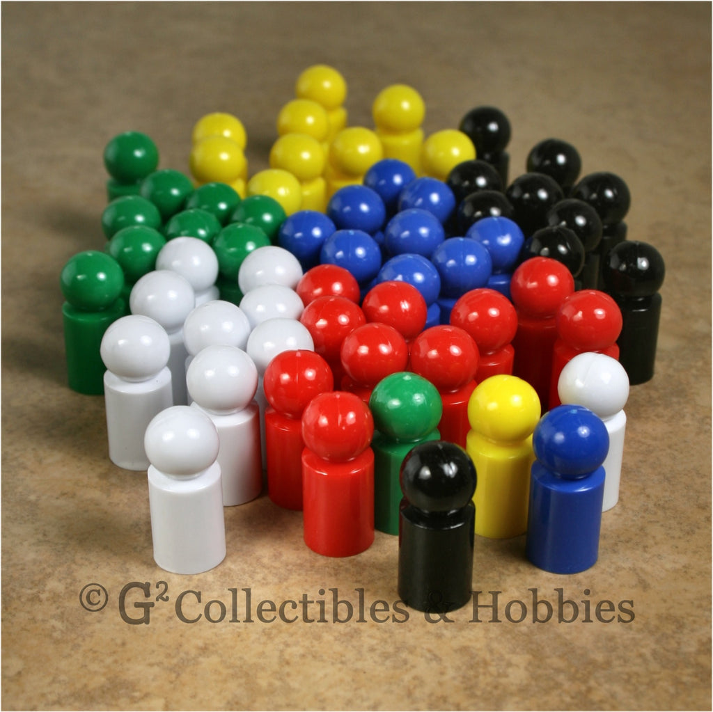 Game Pawns: Ball Set of 60 in six colors