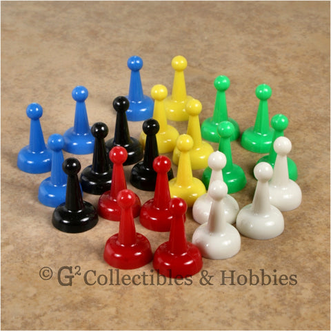 Game Pawns: Standard Set of 24 in six colors