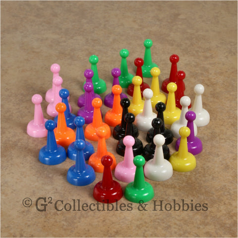 Game Pawns: Standard Set of 36 in nine colors