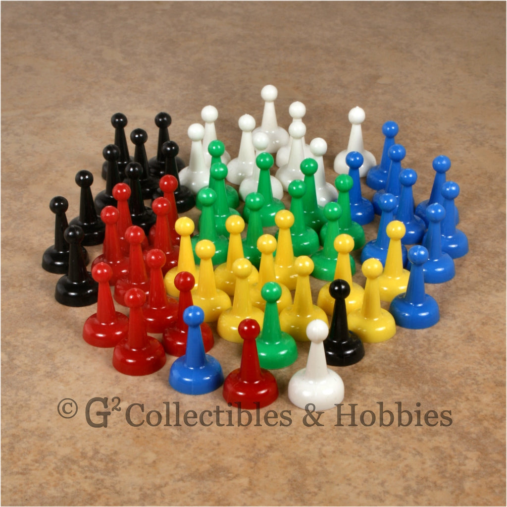 Game Pawns: Standard Set of 60 in six colors