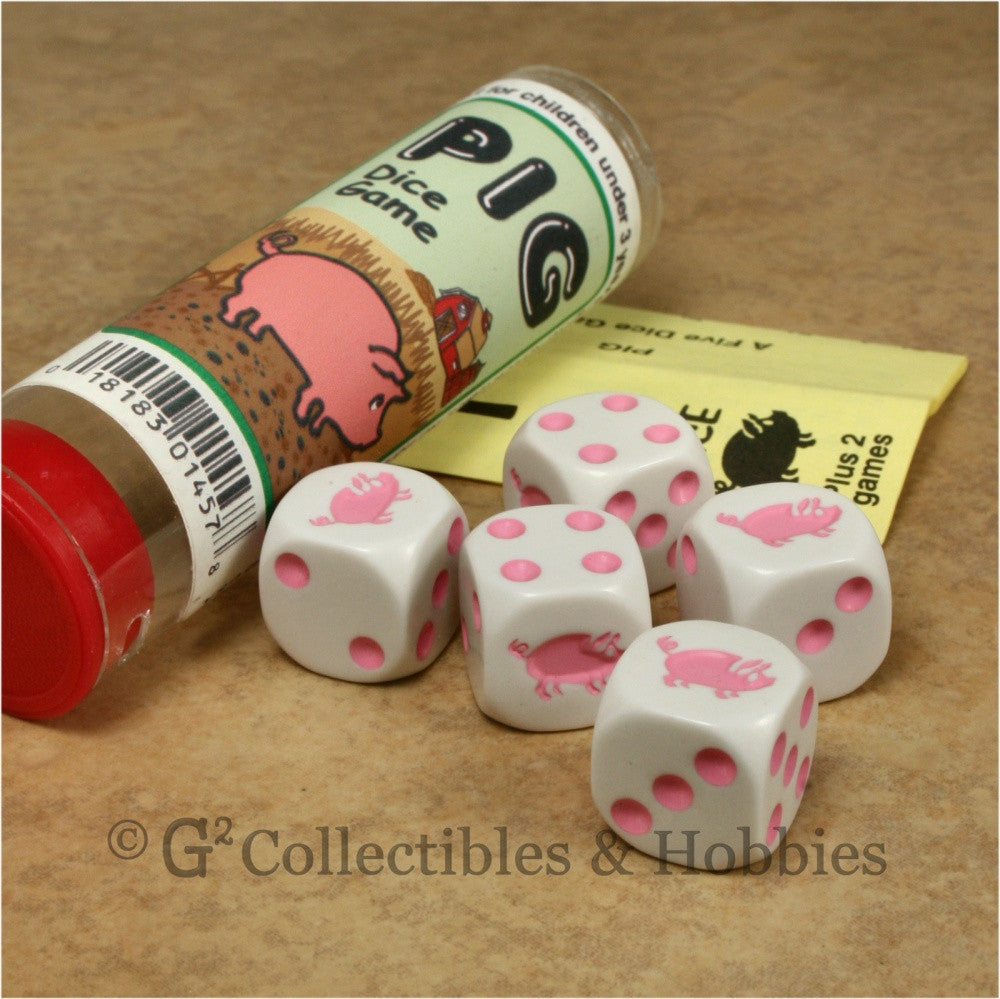 Pig Dice Game - 5 Dice in Tube