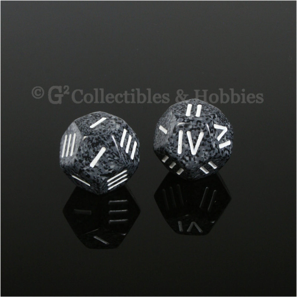 12 Sided Roman Numeral D4 Pair - Urban Camo